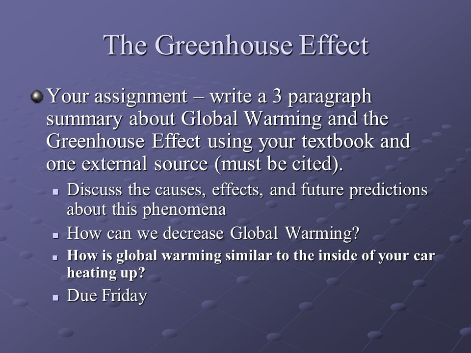 global warming and greenhouse effect causes and effects pdf