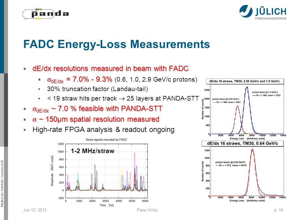 FADC Energy-Loss Measurements