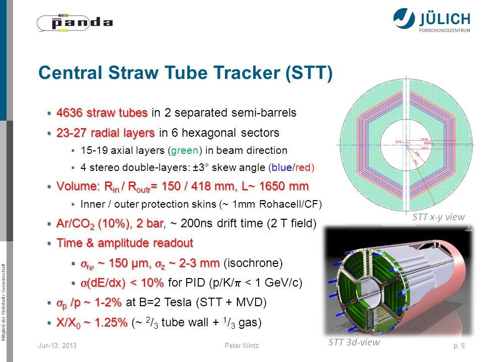 Central Straw Tube Tracker (STT)