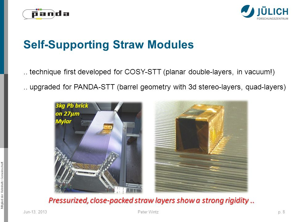 Self-Supporting Straw Modules