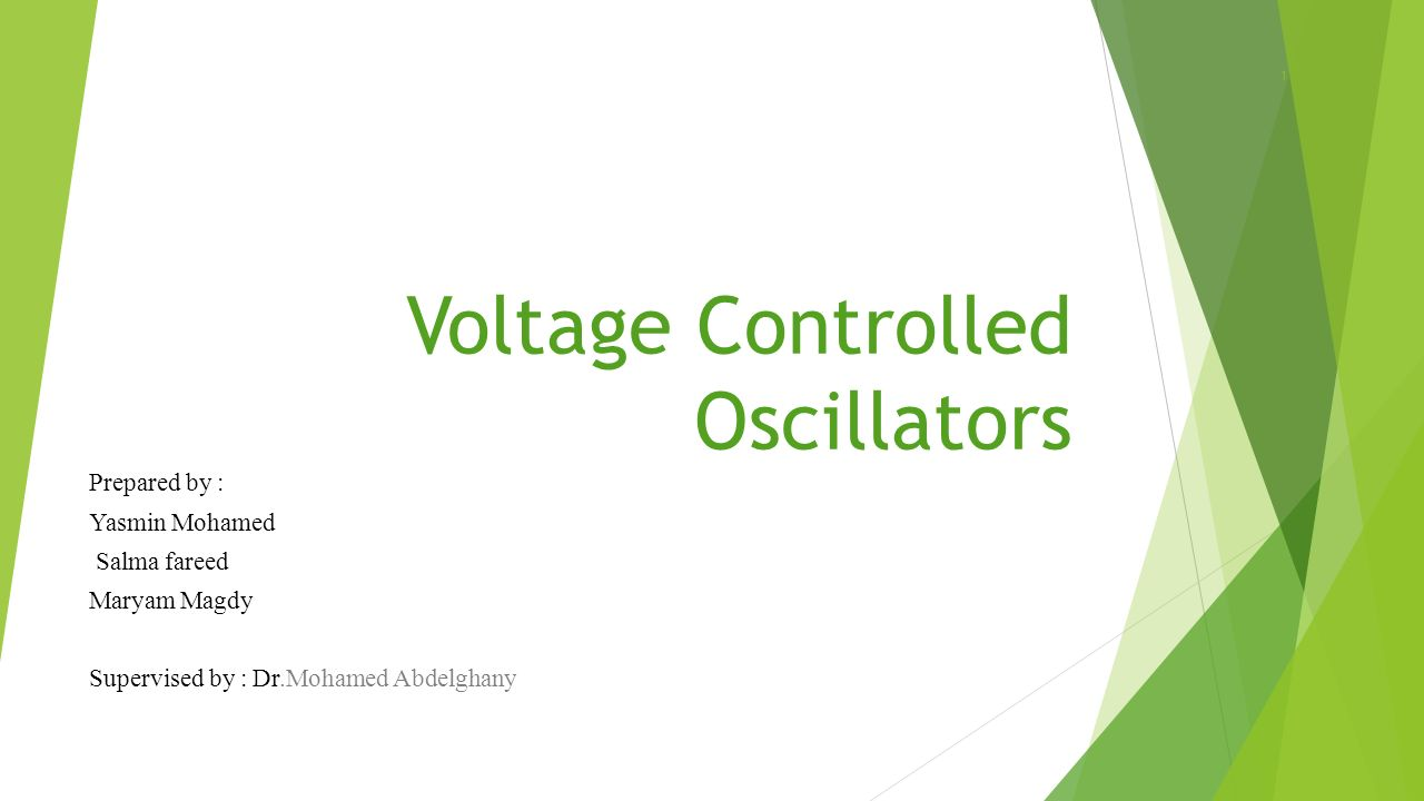 Voltage Controlled Oscillators Ppt Video Online Download Variable Gain Amplifier 1
