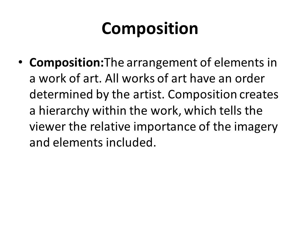 Importance Of Elements Of Art : The elements of art ppt video online download