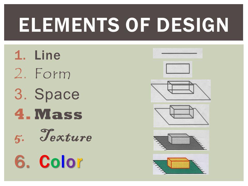 Line Color Form : Objective apply the elements of design ppt video