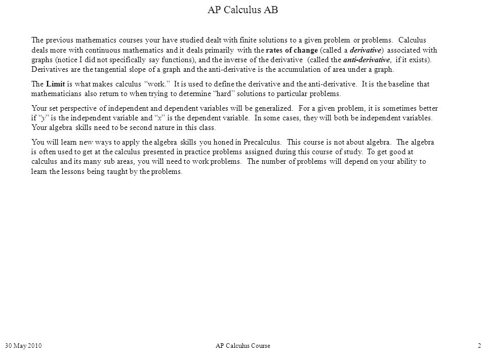 What is calculus? Is it hard to learn? | Yahoo …