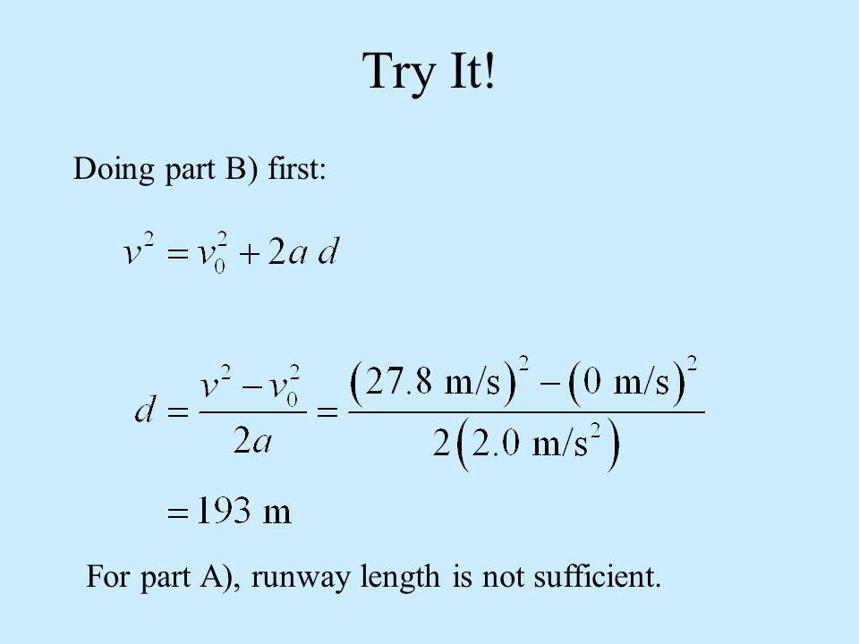 Try It! Doing part B) first: