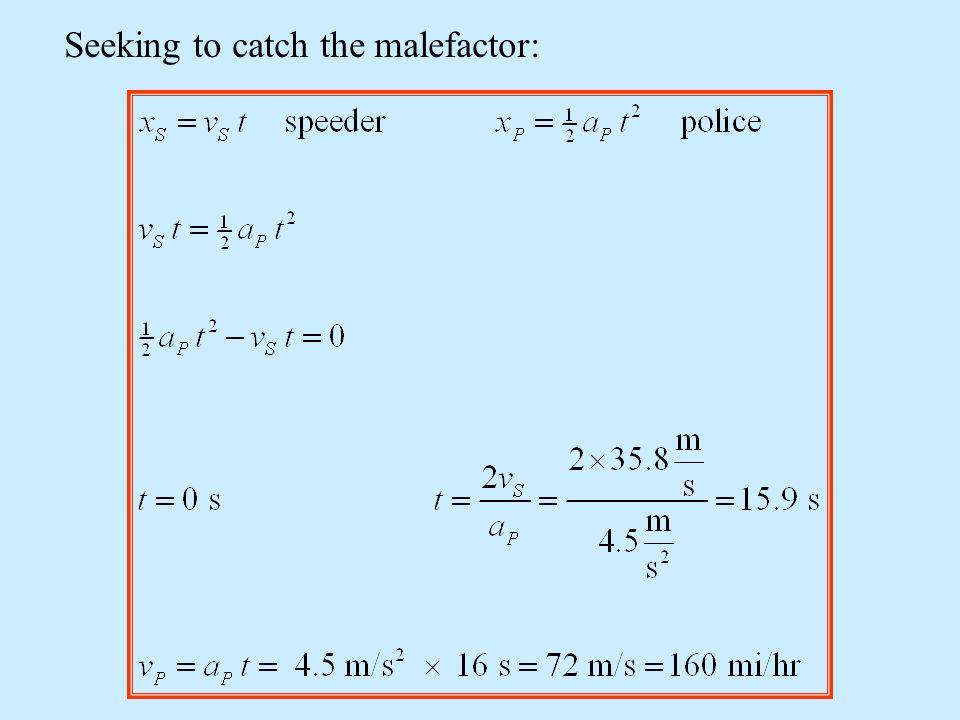 Seeking to catch the malefactor: