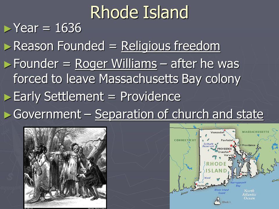 Roger Williams Settlement In Rhode Island