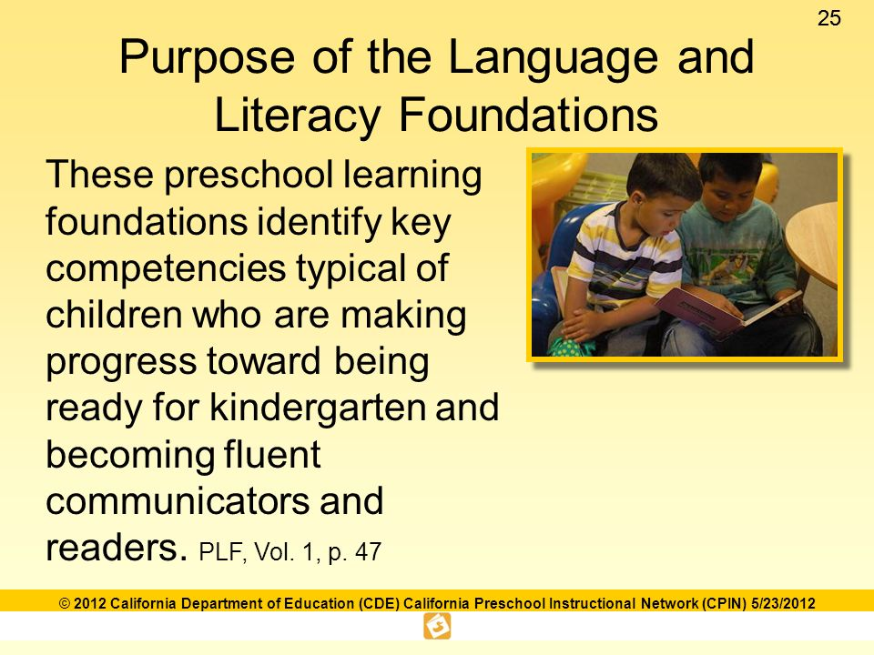 Language and literacy foundations framework ppt download purpose of the language and literacy foundations fandeluxe Gallery