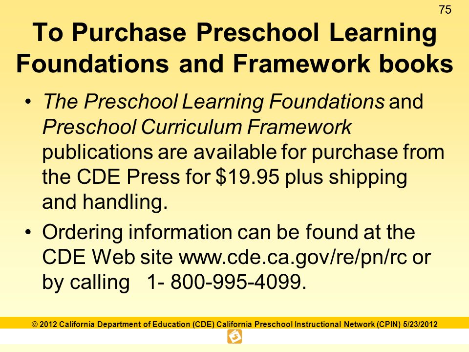 Language and literacy foundations framework ppt download to purchase preschool learning foundations and framework books fandeluxe Gallery