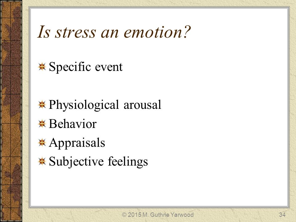 is stress and emotion