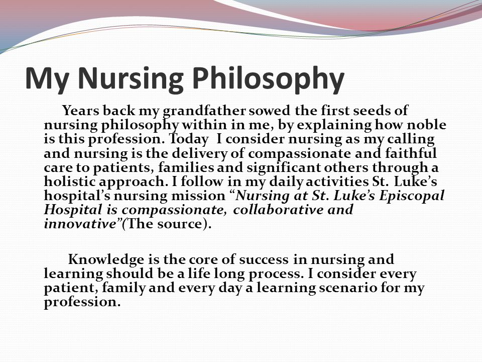Nursing philosophy paper