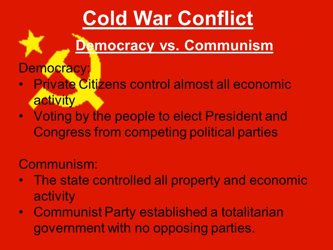 relationship between communist and democratic countries