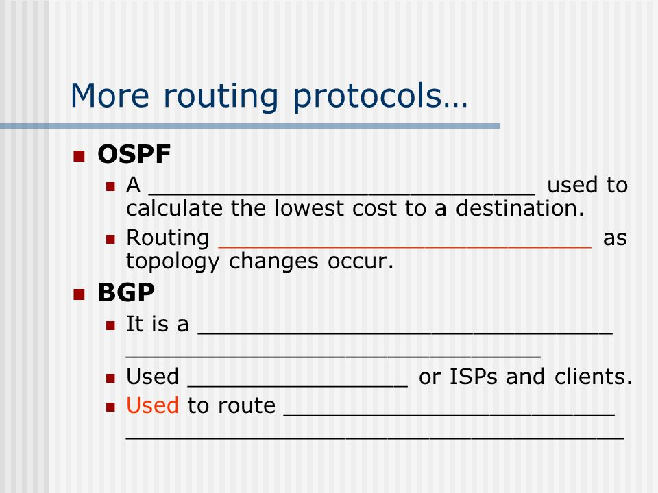 Routing and routing protocols ppt video online download for Exterior gateway protocol examples