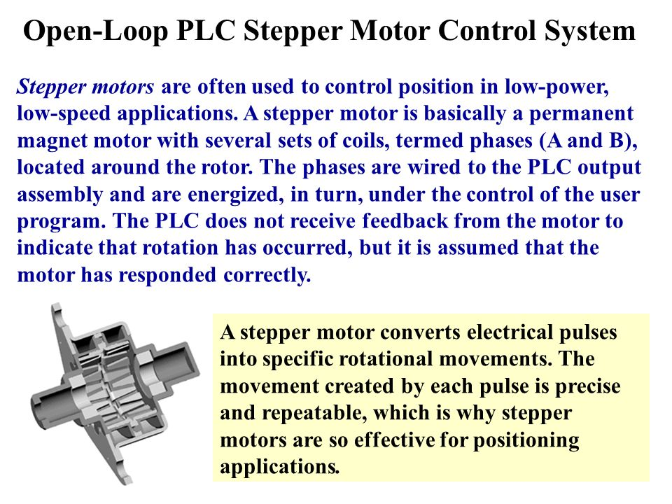 stepper motor control using plc ppt