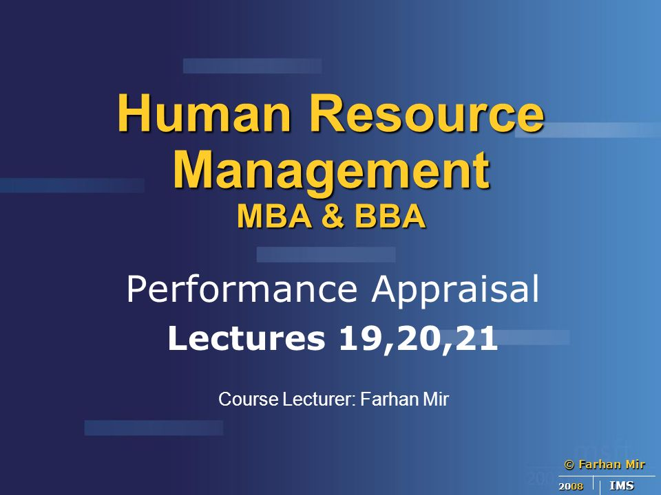 mba human resources management pdf