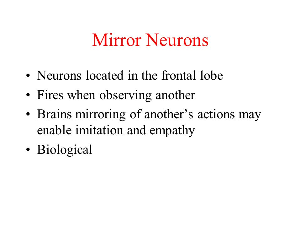 Learning behaviorism ppt download for Mirror neurons psychology definition