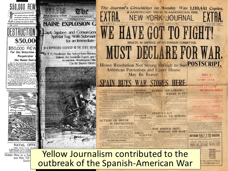 yellow journalism essay spanish american war It examines the spanish-cuban tensions and the yellow journalism of spanish - american war this paper also provides the american.