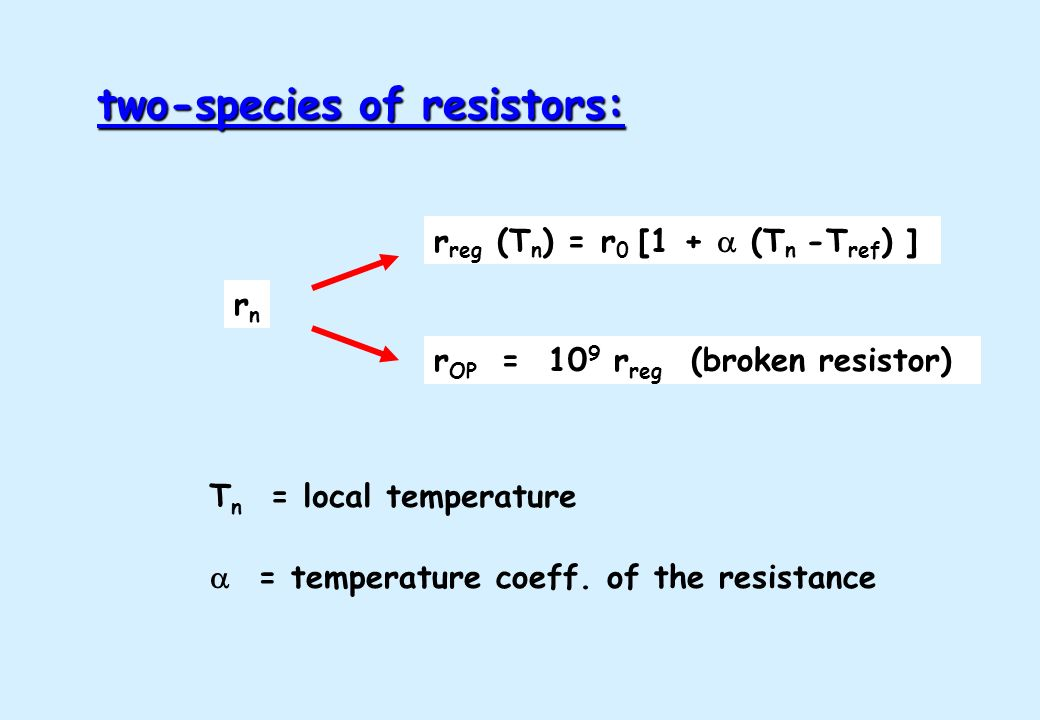 two-species of resistors: