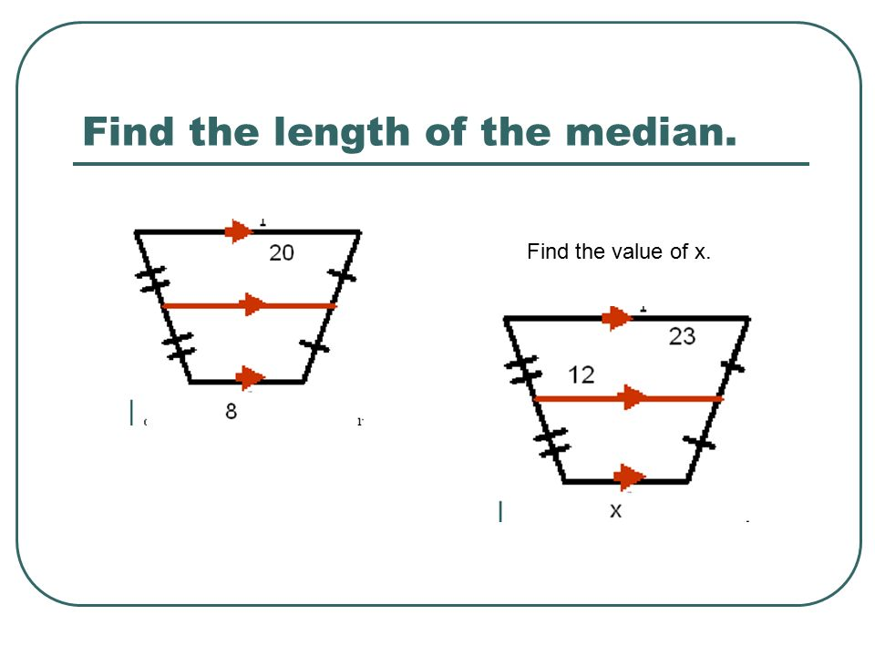 how to find the median of a trapezoid with variables