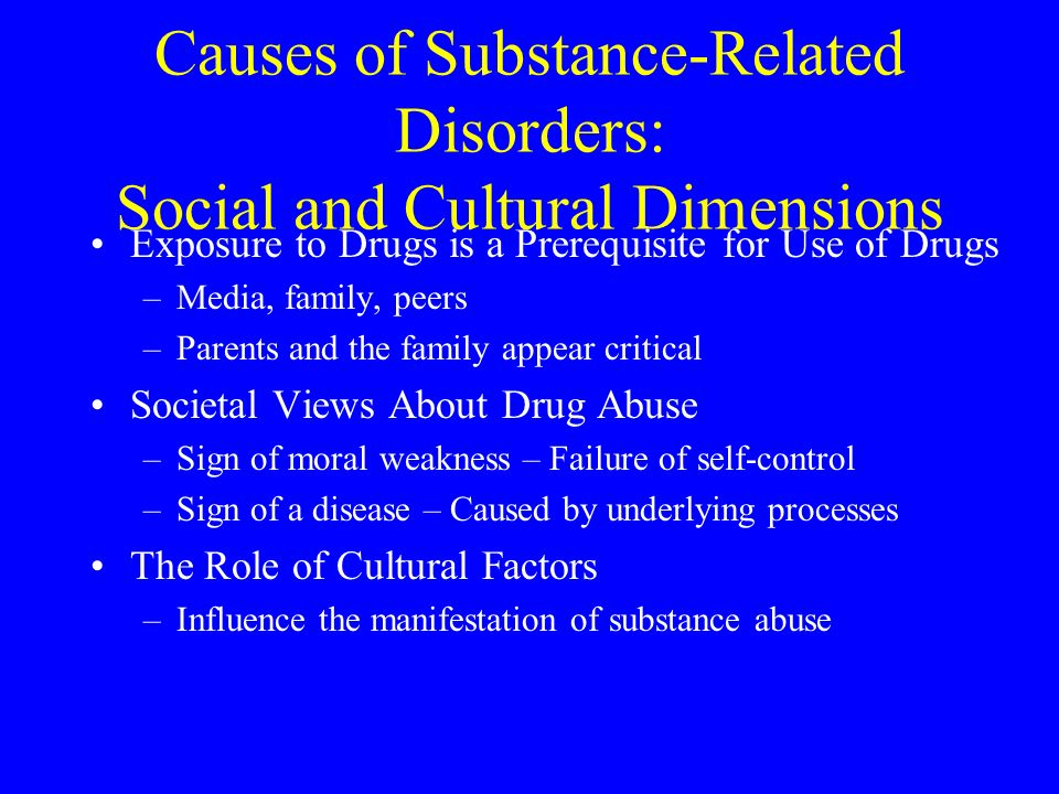 Societys role in controlling any abuse of substances