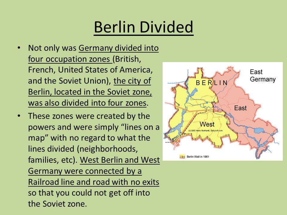 Berlin Wall Ppt Download - Map of divided berlin