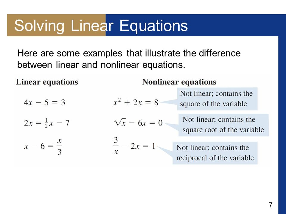 how to find the formula for a non linear equation