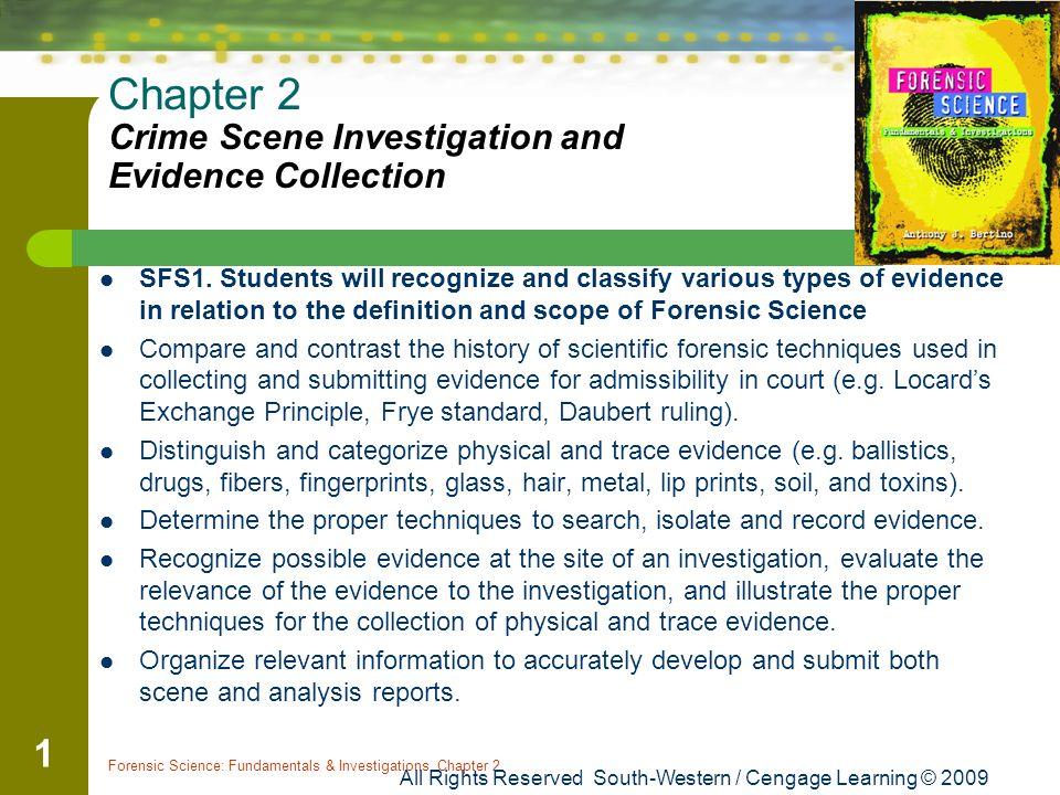 criminal investigations criminal evidence essay