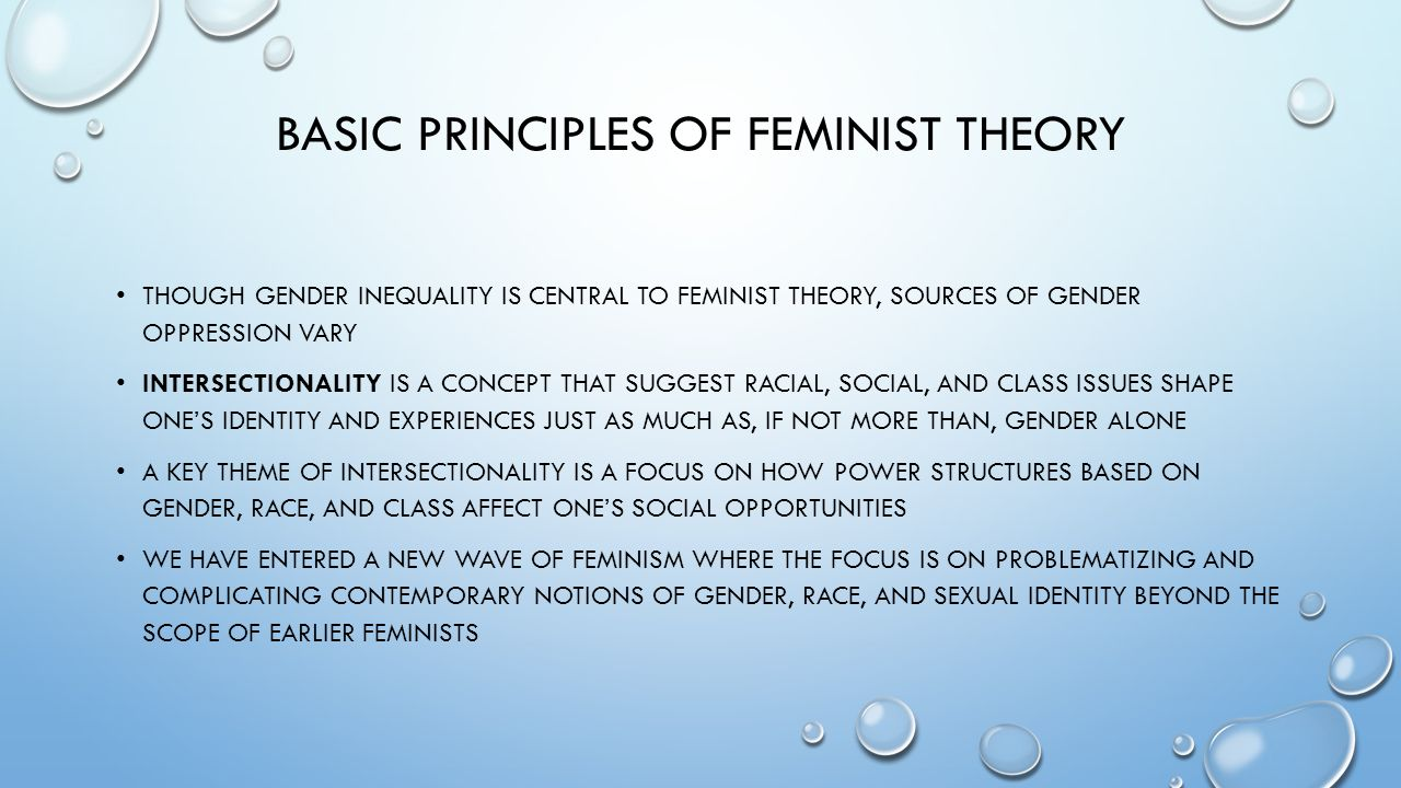 theories of gender oppression Theories of gender oppression go further than theories of gender difference and  gender inequality by arguing that not only are women different from or unequal.