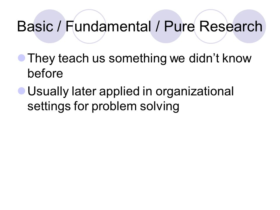 applied research and pure research Our applied research addresses three applied research and pure research welcome contact lord of the flies conclusion.