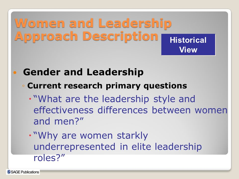 gender and leadership style Men and women are equally effective in settings that match gender roles   gender differences in leadership style, job stress and mental health in male- and .