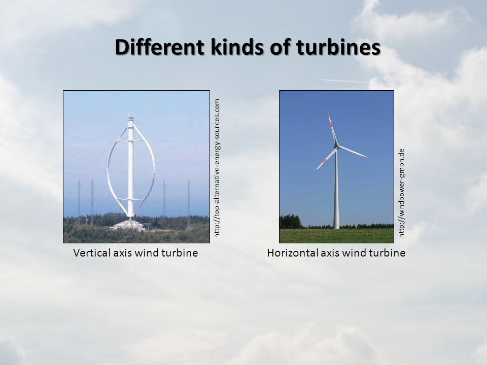 Different kinds of turbines