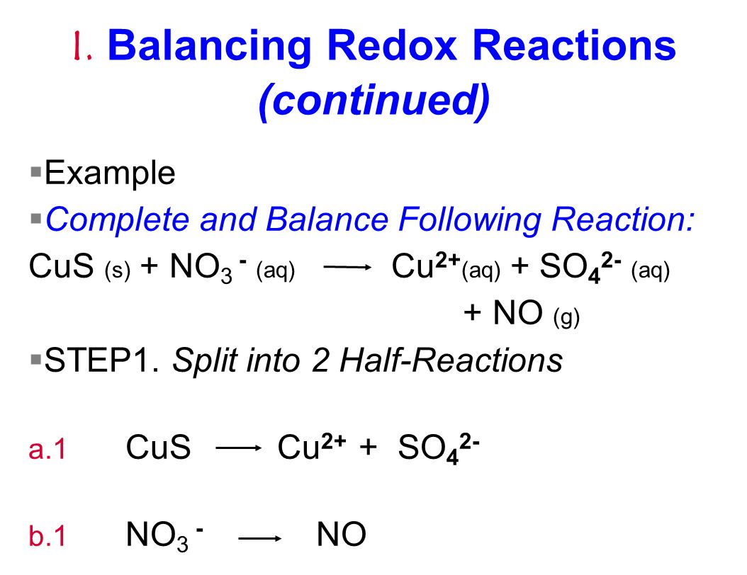"redox reactions Balancing redox reactions: learn and practice reduction-oxidation reactions (or redox reactions) occur when the chemical species involved in the reactions gain and lose electrons oxidation and reduction occur simultaneously in order to conserve charge we can ""see"" these changes if we assign oxidation numbers to the reactants and."