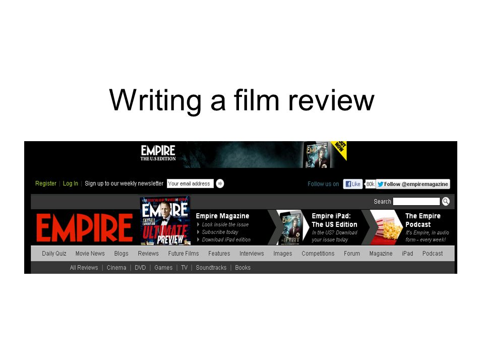 writing a review of a film sample