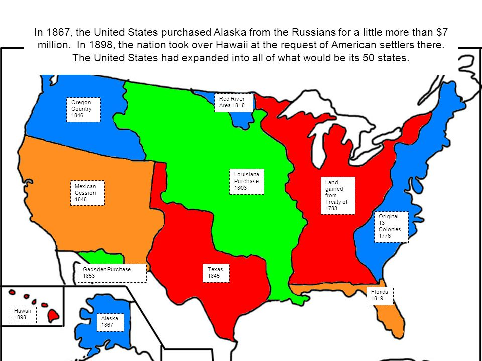 Expansion Of The United States Ppt Video Online Download - Alaska over the us map