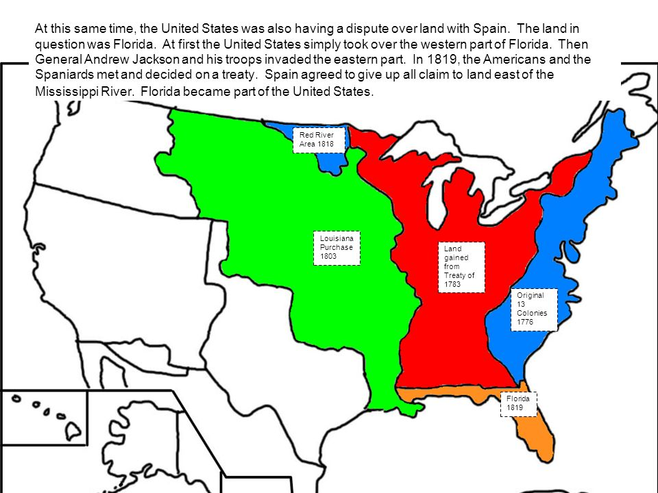 Expansion Of The United States Ppt Video Online Download - Us map 1819
