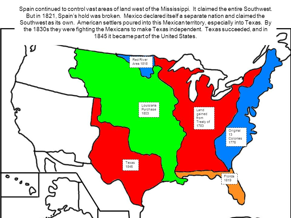 Expansion Of The United States Ppt Video Online Download - Us map 1821