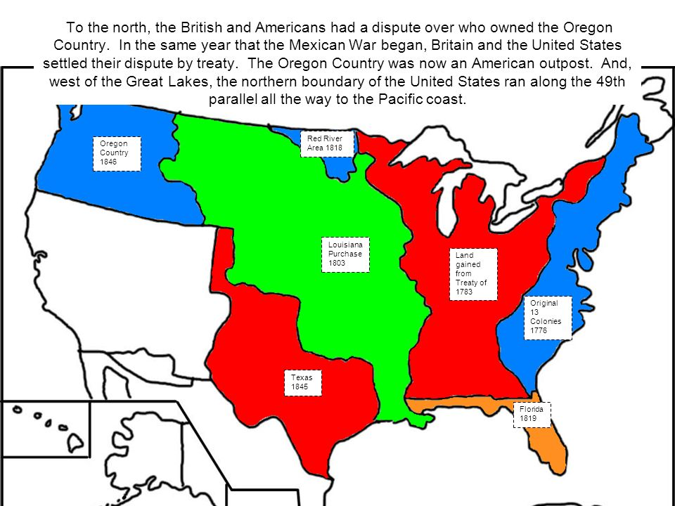 Expansion Of The United States Ppt Video Online Download - Area map of us 1845