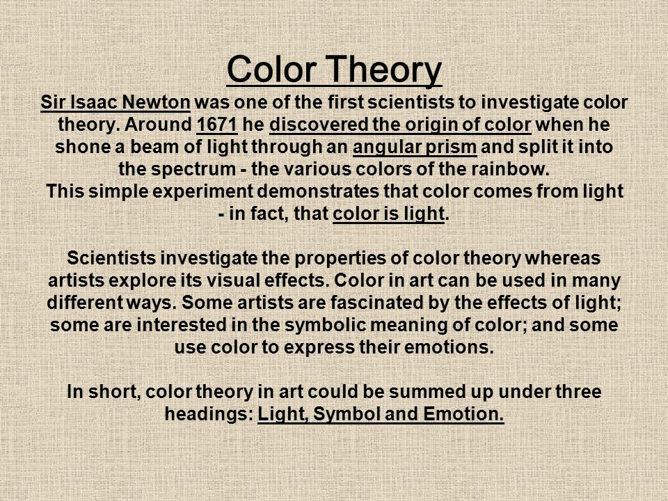 Color Theory Light Symbol Emotion 2