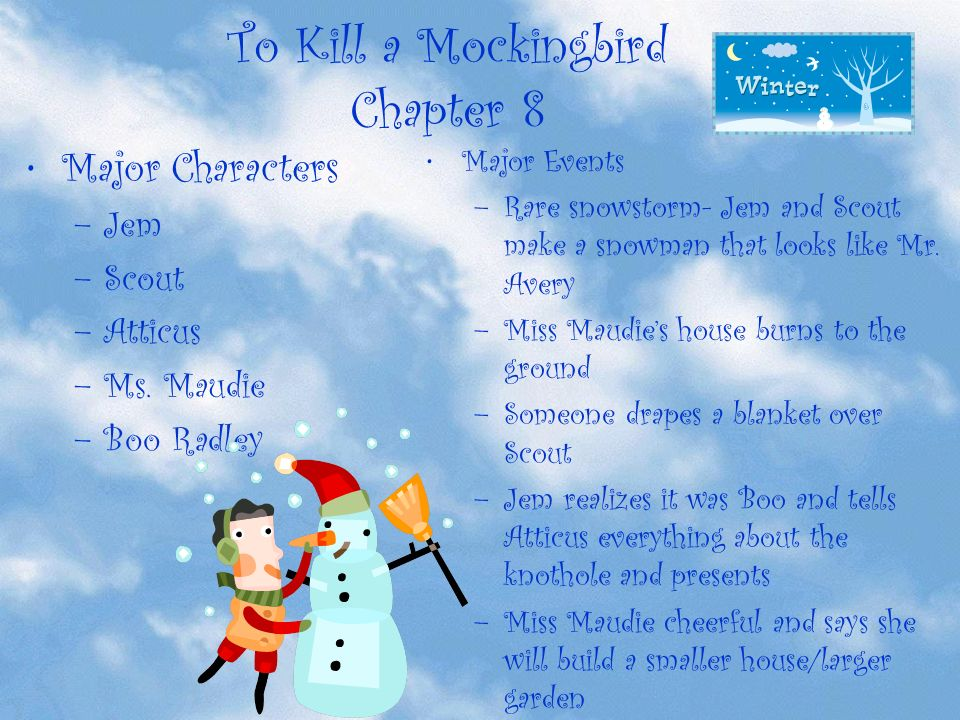 ms maudie to kill a mockingbird empathy When are you first introduced to the idea of empathy to kill a mockingbird chapters 8-9 1 according to ms maudie, why is it a sin to kill a mockingbird.
