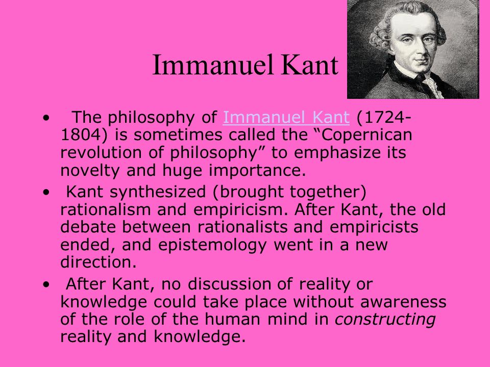 Kant and the Copernican Revolution