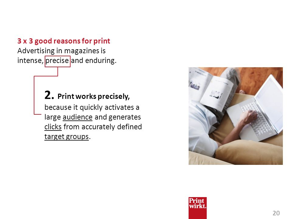 3 x 3 good reasons for print