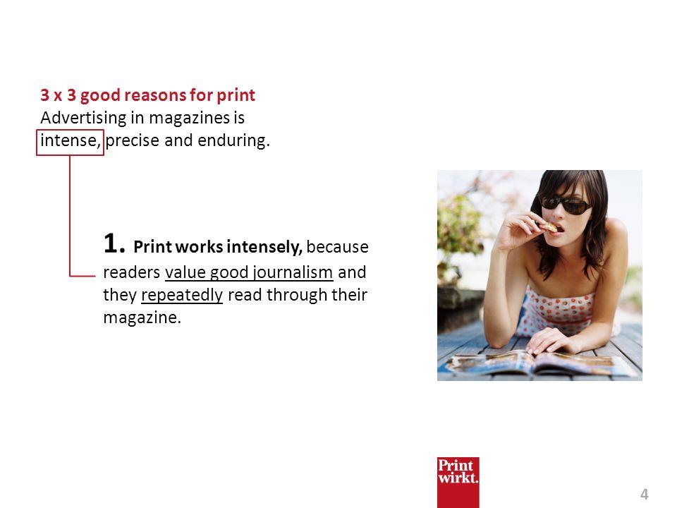 3 x 3 good reasons for print