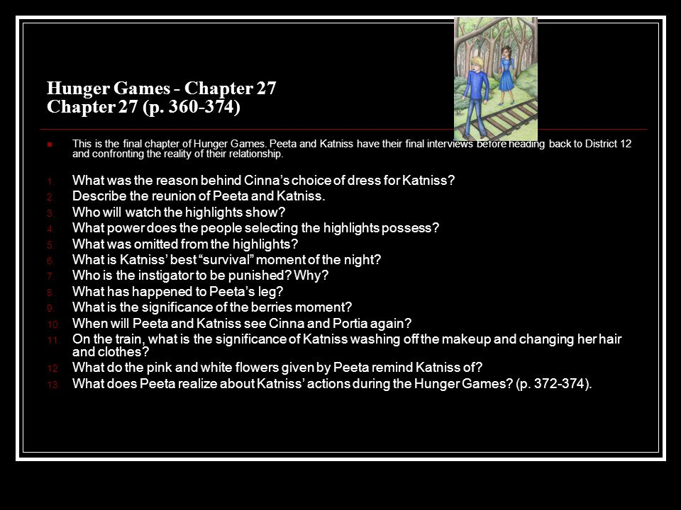 The Hunger Games Questions By Chapter Ppt Download