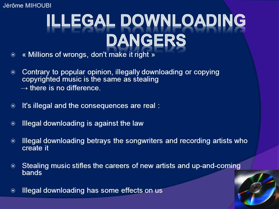 illegal downloading and its effect on the The history of the flores settlement and its effects on immigration president trump has ordered the justice department to file a request to modify a court agreement known as the flores settlement.