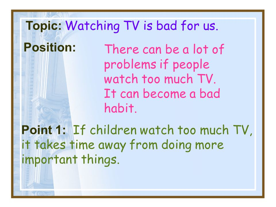 Television is good and bad