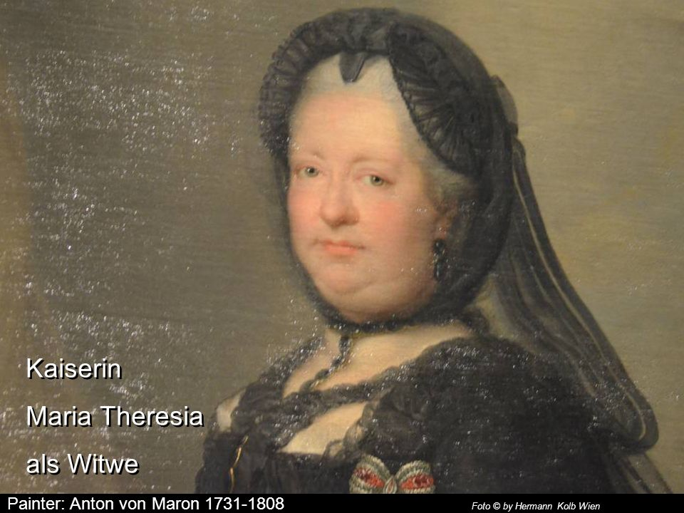 Kaiserin Maria Theresia als Witwe