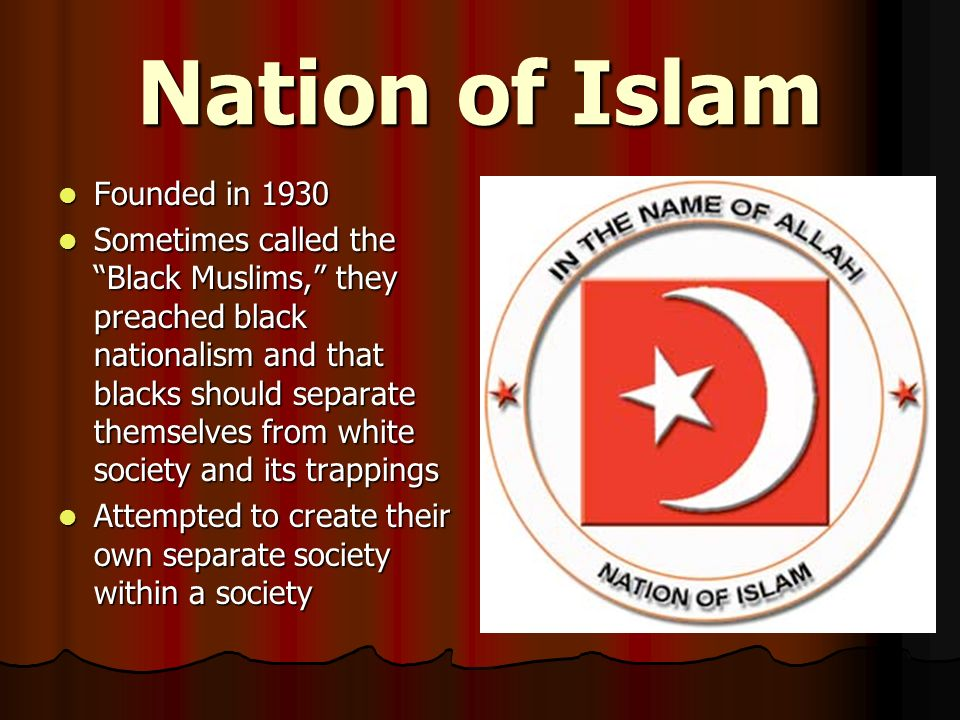 Nation of Islam Founded in 1930