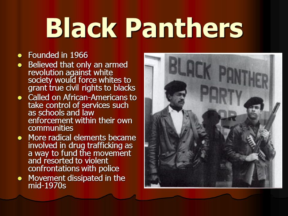 Black Panthers Founded in 1966