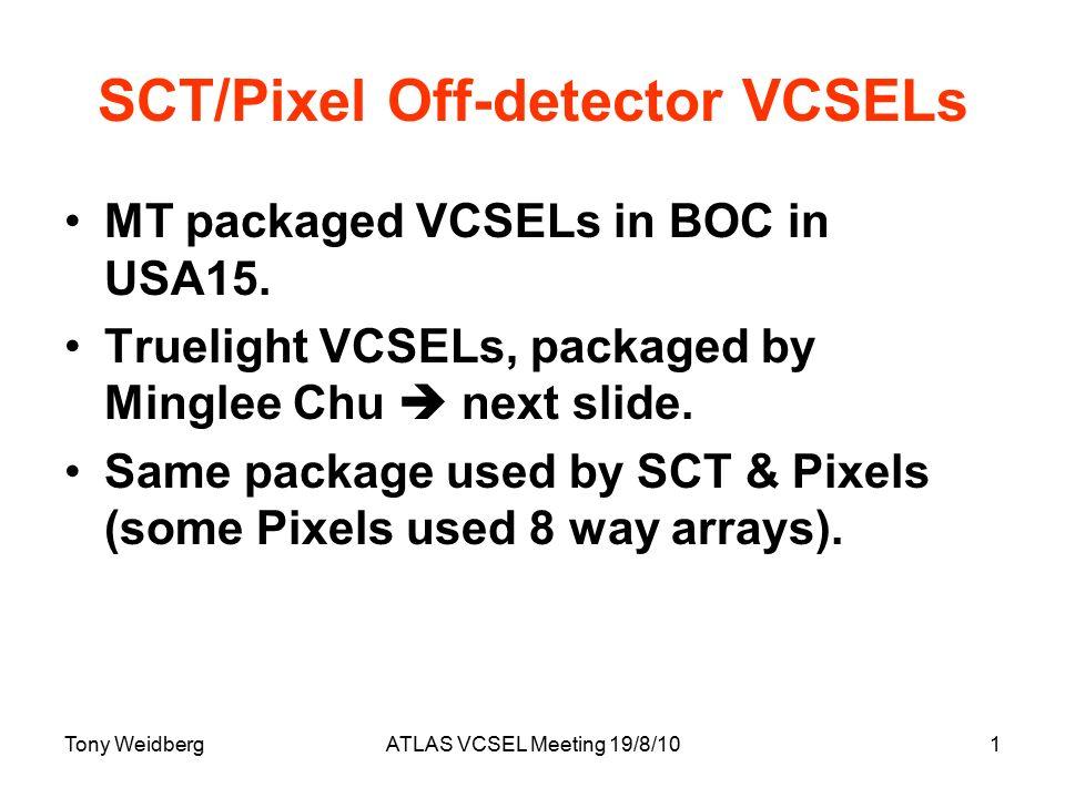 SCT/Pixel Off-detector VCSELs