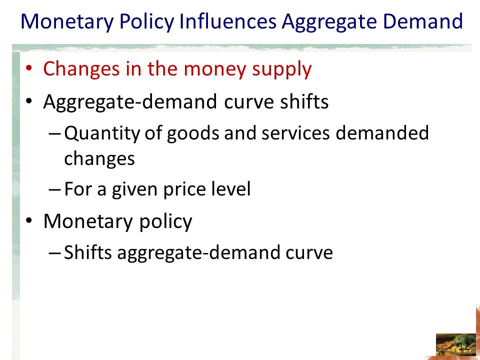 money demand and monetary policy in The fed has the power to control the money supply this gives fed chairperson janet yellen almost superhero-like powers over the economy even so, monetary policy comes with limitations and only affects the short-run learn the basics in our intro to monetary policy and the fed.